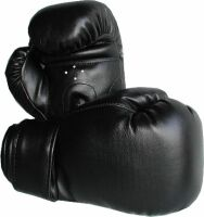 ALTO- CUALIDAD 12 OZ DE boxeo guantes  Negro