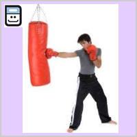 Saco de boxeo rojo - 90 cm con comba